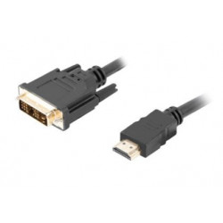 LANBERG Kabel HDMI(M)-DVI-D(M) CA-HDDV-10CC-0018-BK 1.8 M czarny