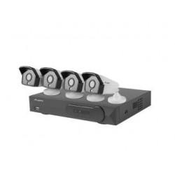 Zestaw do monitoringu Lanberg PCS-0804-0050 rejestrator NVR 8 kanałowy PoE + 4 kamery IP 5MP z akcesoriami