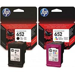 Zestaw tuszy HP 652 Black + HP 652 Color