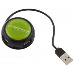 Esperanza HUB 4 PORTY USB 2.0 YOYO ZIELONY EA135G