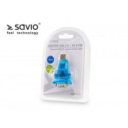 Elmak SAVIO CL-22 Adapter USB 2.0 do RS 9-pin + kabel USB