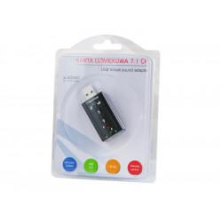 Elmak SAVIO AK-01 Karta dźwiękowa USB 7.1, 16bit sound, Plug & Play, blister