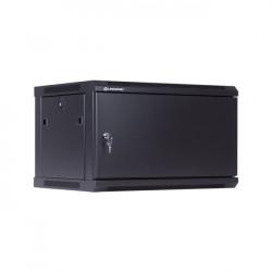 """Linkbasic Szafa wisząca rack 19"""" 6U 600x450mm czarna drzwi pełne stalowe"""