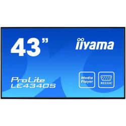 IIYAMA 43'' LE4340S-B1 AMVA DVI/HDMI/USB Player/2x10W