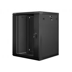 LANBERG Szafa instalacyjna wisząca 19'' 15U 600X600mm czarna (drzwi      szklane)