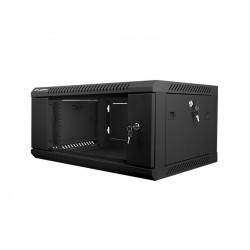 LANBERG Szafa instalacyjna wisząca 19'' 4U 600X450mm czarna (drzwi       szklane)