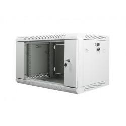 LANBERG Szafa instalacyjna wisząca 19'' 6U 600X450mm szara (drzwi        szklane)