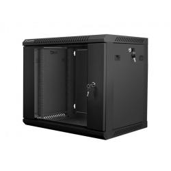 LANBERG Szafa instalacyjna wisząca 19'' 9U 600X450mm czarna (drzwi       szklane)