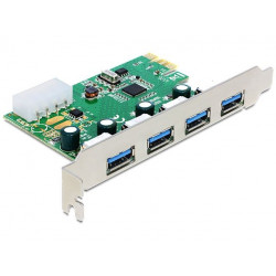Delock Karta PCI Express - USB 3.0 4-port NEC Low Profile
