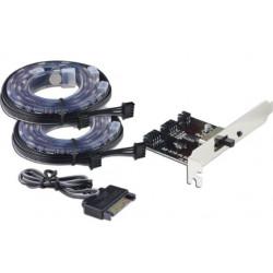LC-POWER OŚWIETLENIE PC LC-PCI-LED 18LED 10 KOLORÓW IP65