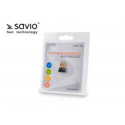 Elmak SAVIO BT-040 Adapter komputerowy USB Nano, Bluetooth 4.0, 3Mb/s, zasięg 50m