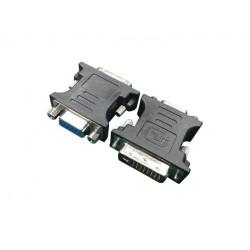 Gembird Adapter DVI-VGA (24M/15F) czarny
