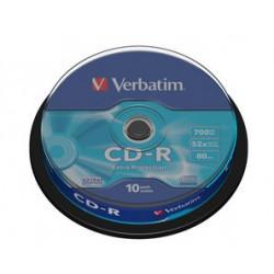 Verbatim CD-R 52x 700MB 10P CB DL Ex Prot 43437