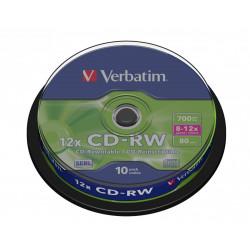 Verbatim CD-RW  8-12x 700MB 10P CB             43480