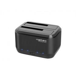 NATEC Stacja dokująca HDDKangaroo Dual SATA 2.5''+3.5'' USB 3.0 + zasilacz