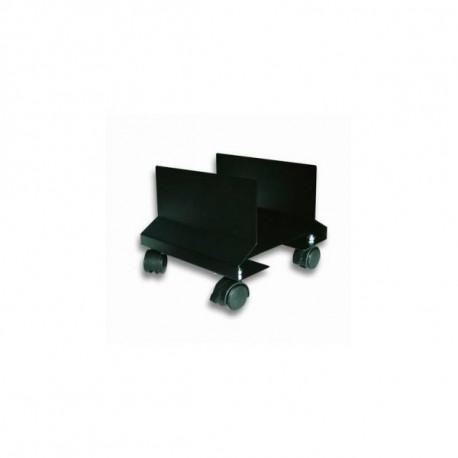 Techly Podstawka pod obudowę PC na kółkach, czarna
