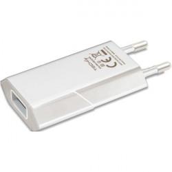 Techly Ładowarka sieciowa USB 5V 1A biała