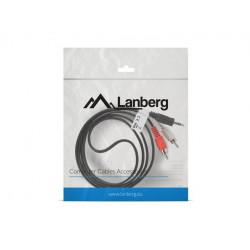 LANBERG Kabel Minijack - 2x Chinch M/M 1.5M