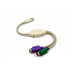 Gembird Adapter USB-2xPS2 (klawiatura+mysz) UAPS12