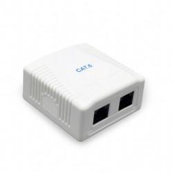Gembird Gniazdo sieciowe CAT5E FTP 2 port