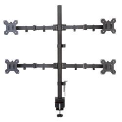 Techly Uchwyt nabiurkowy na 4 monitory 13-27cali 4x10kg, czarny