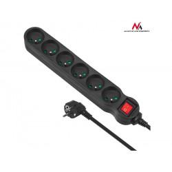 Maclean Listwa zasilająca 6g 1,4m MCE186 2300W czarna