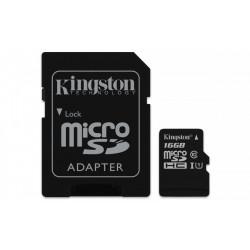 Kingston microSD  16GB Class10 Canvas Select 80/10MB/s adapter