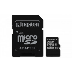 Kingston microSD  32GB Canvas Select 80/10MB/s adapter