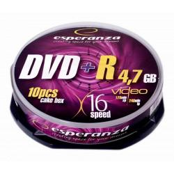 Esperanza DVD+R 4,7GB x16 - Cake Box 10