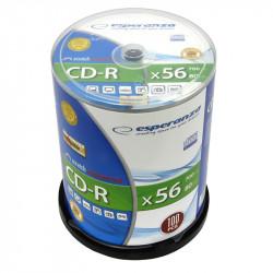 Esperanza CD-R Silver 700MB x56 - Cake Box 100