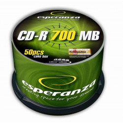 Esperanza CD-R Silver 700MB x56 - Cake Box 50