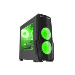 NATEC Obudowa Genesis Titan 800 USB 3.0 z oknem zielone podświetlenie