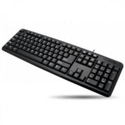 Techly Klawiatura USB 104 klawisze, układ US, czarna