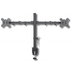 Techly Podwójne ramię biurkowe LED/LCD 13-27 cali 2x10kg VESA regulowane