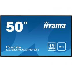 IIYAMA Monitor wielkoformatowy 50'' LE5040UHS-B1 LAN,AMVA3,18/7,4K,