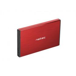 NATEC Kieszeń zewnętrzna HDD/SSD Sata Rhino Go 2,5 USB 3.0 czerwona