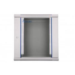 Extralink Szafka wisząca rack 12U 600x450 szara szklane drzwi