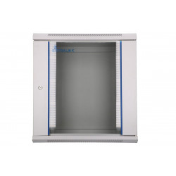 Extralink Szafka wisząca rack 12U 600x600 szara szklane drzwi