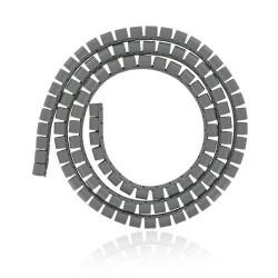 4world Organizer kabli maskownica SMART SNAKE - średnica 16mm, długość 1.5m, szary