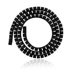 4world Organizer kabli maskownica SMART SNAKE - średnica 34mm, długość 1.5m, czarny