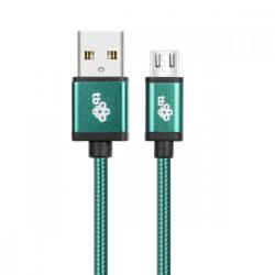 TB Kabel USB-Micro USB 1.5 m zielony sznurek