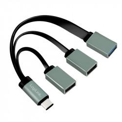 LogiLink Hub USB-C 3.1, 3 porty