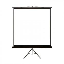 4world Ekran projekcyjny na statywie 152X152 1:1 biały matowy