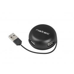 NATEC Hub USB 4 porty Bumblebee USB 2.0 czarny