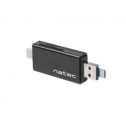 NATEC Czytnik kart Earwig SD/Micro SD, USB 2.0 czarny