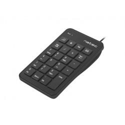 NATEC Klawiatura numeryczna Goby 23 klawisze USB czarna