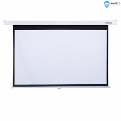 """4world Ekran projekcyjny ścienny 221x124 (100"""",16:9) Biały matowy"""