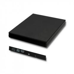 Qoltec Obudowa/kieszeń na napęd optyczny CD/DVD SATA USB 2.0 12.7mm