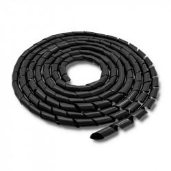 Qoltec Organizer do kabli 16mm, 10m, czarny