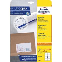 Avery zweckform Etykiety uniwersalne ogólnego zastosowania, 97 x 67,7mm, białe, do drukarki, 240 sztuk